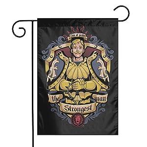 Escanor Seven Deadly Sins Garden Flags Indoor Yard Flag Double Sided Outdoor Farm Decor Welcome Home 12 X 18 Inch