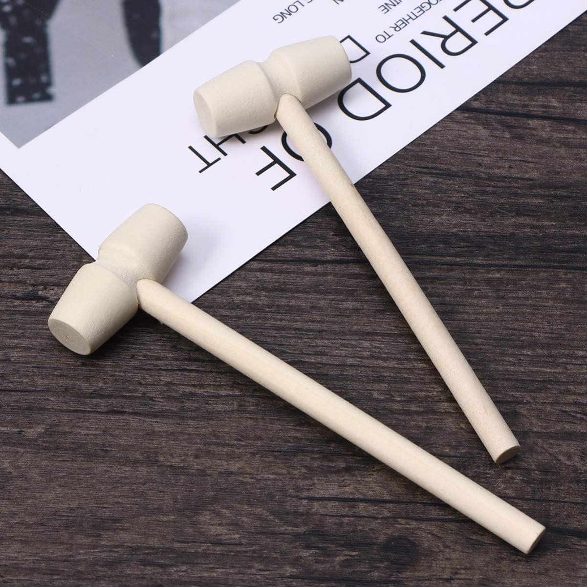 Jouets crabes en bois pour gar/çons et filles TOYANDONA Lot de 10 mini marteaux en bois martel/é