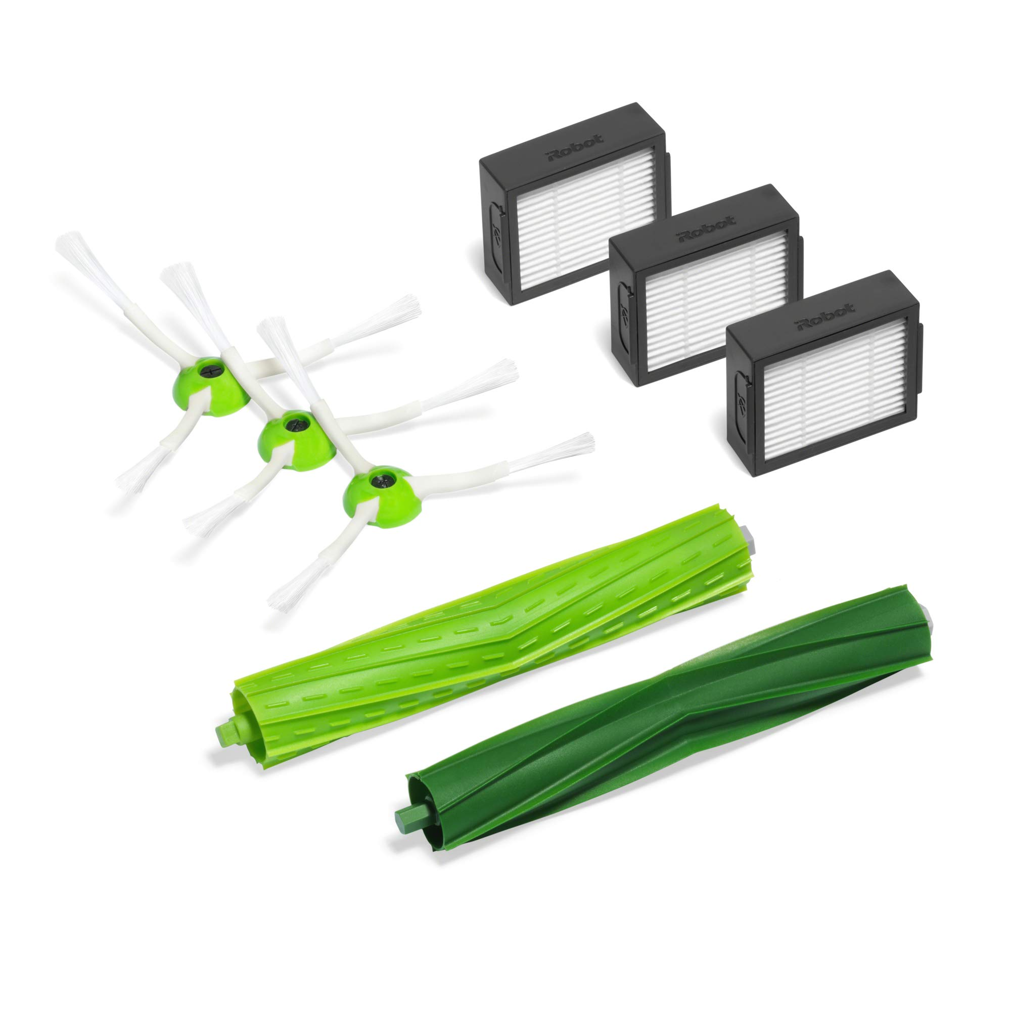 iRobot  Authentic Replacement Parts- Roomba e and i Series Replenishment Kit, (3 High-Efficiency Filters, 3 Edge-Sweeping Brushes, and 1 Set of Multi-Surface Rubber Brushes) by iRobot