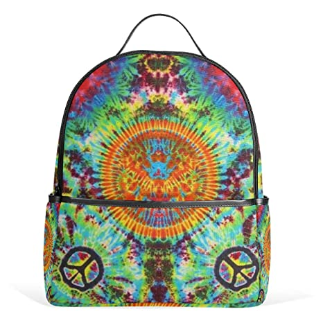Amazon.com | Hippie Things Love Tie Dye Art School Backpack 2th 3th 4th Grade for Boys Teen Girls Kids 12