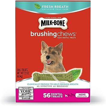 NEW Milk Bone Brushing Chews Daily Dental Treats  Mini 22oz 56 bones