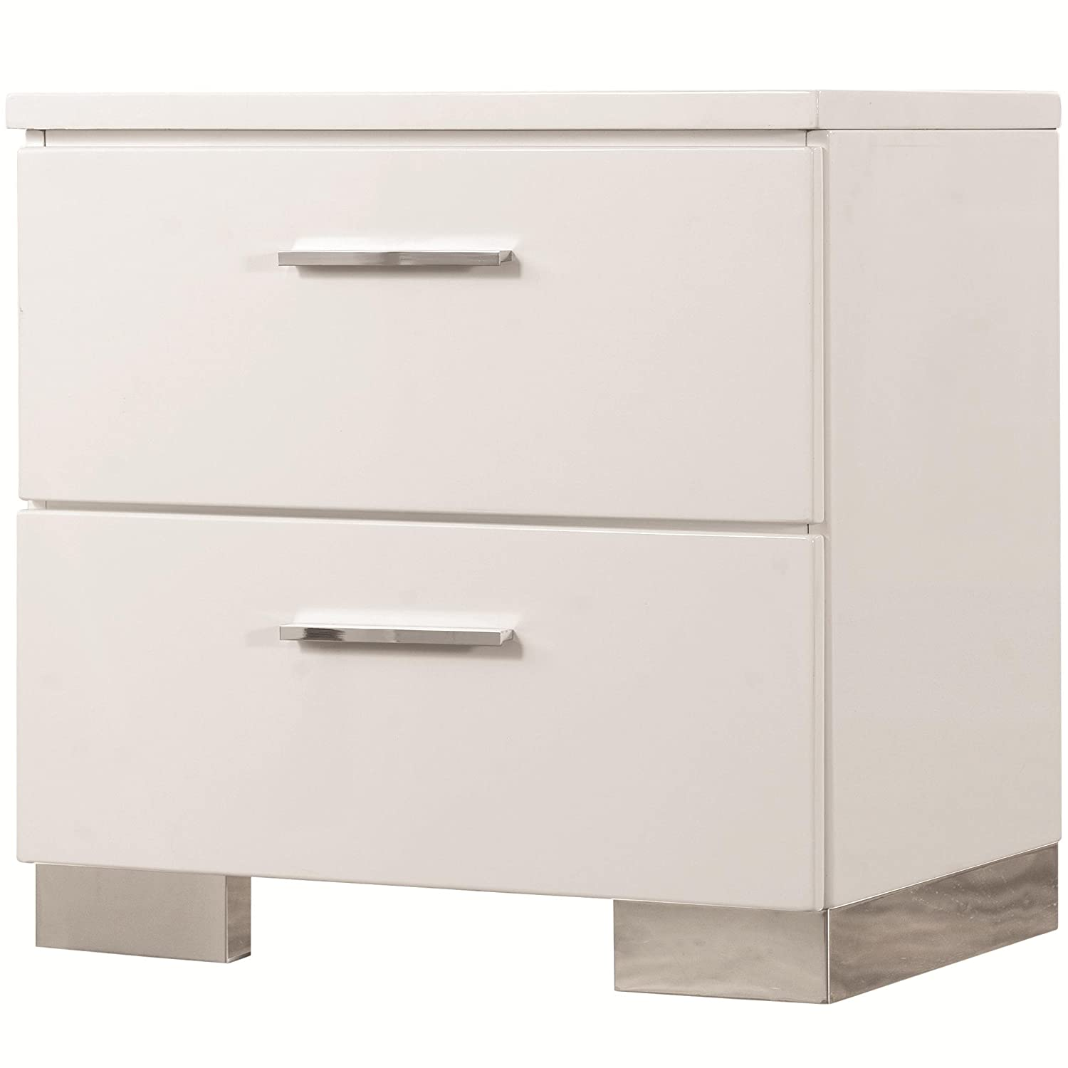 amazoncom coaster  home furnishings night stand glossy  - amazoncom coaster  home furnishings night stand glossy whitekitchen  dining