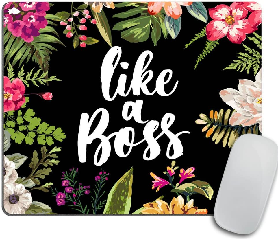 Coworker Gift Mouse Pad Boss Gift School Supplies Coral Desk Decor Dorm Decor Floral Cute Office Supplies Like a Boss