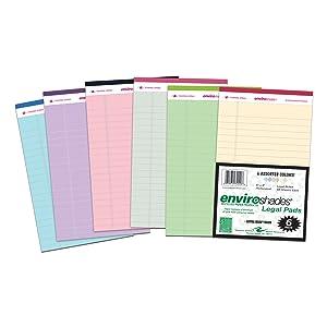 Roaring Spring Enviroshades 5x8 Assorted Legal Pad 6/Pack