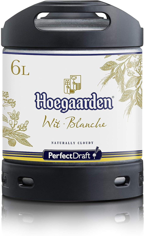 Cerveza PerfectDraft un barril de 6 litros de Hoegaarden Wit - Cerveza de trigo. Máquina de tiro casera. Incluye un depósito de 5 euros.