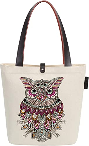 Simple Graphics Black High Boots Outline Tote Canvas Bag Shopping Satchel Casual Handbag