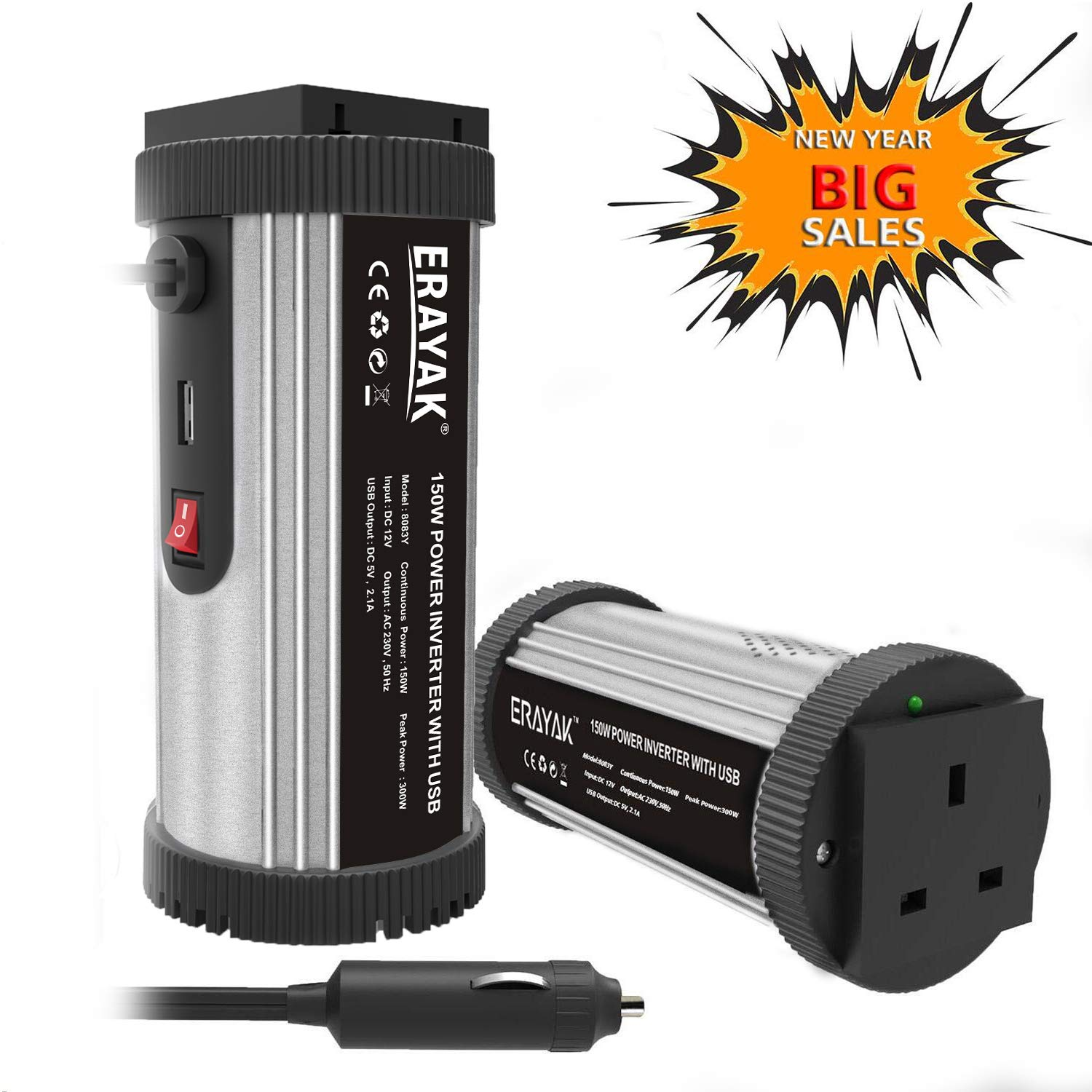 Autocare 150W compact can power inverter 12 volt dc to 240v