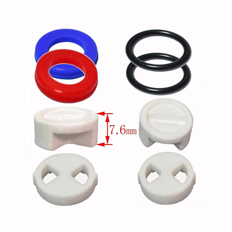 Replacement Brass Ceramic Disc Tap Insert Gland Cartridge Quarter Turn BSP 1//2 x 20 Teeth x 53mm