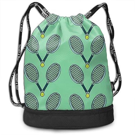 Mochila con cordón Grande para Pelota de Tenis y Raqueta, para ...