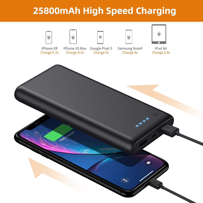 VOOE Batería Externa 25800mAh [Versión Mejorada] Power Bank Ultra ...