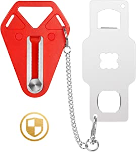 Portable Door Lock, Travel Lock, School Lockdown Lock, Extra Security Measure for Airbnb, Hotel, Home, Apartment and Prevents Unauthorized Entry