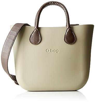 O Bag B002, bolso de mano para mujer, Color Marrón (roca),