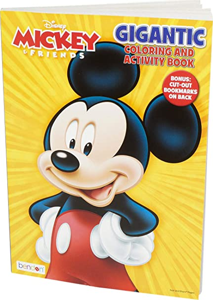 Amazon Com Disney Gigantic 192 Page Mickey Mouse Coloring Book Home Audio Theater