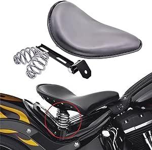 Harley Sportster Honda Spring Seat Chopper Bobber10x13 Blk Ds Snub Nose Leather