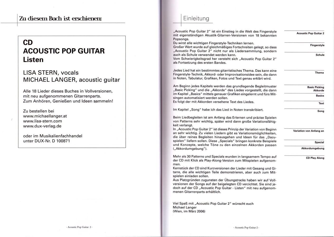 Acoustic Pop Guitar bande 2 avec CD - INTRODUCTION dans le monde ...