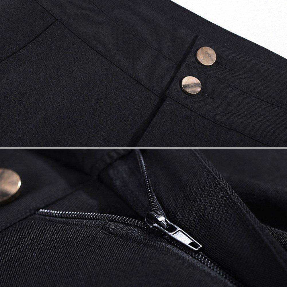 Mujer Pantalones Pierna Ancha Cintura Alta Casual Pantalones Largos De Tela