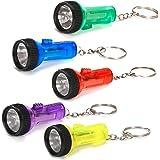 Fun Express Plastic Large Beam Flashlight Key Chains (1 dz)