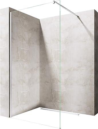 styles divers célèbre marque de designer vente la moins chère Paroi de douche à l'italienne 140cm pare-douche verre transparent de  sécurité 8mm Sogood Bremen1 140x200cm stabilisateur rectangulaire