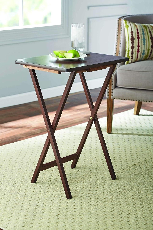 Amazon.com: Juego de 2 bandejas plegables para TV, mesa de ...