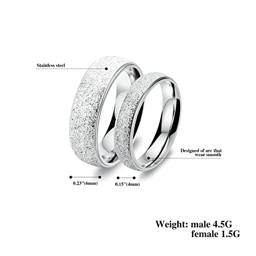 Amazon.com: 2 Pcs Rings Stainless Steel Rings for Men Rings Silver Rings Men Size 10 & 10: Jewelry