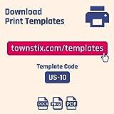 """(2"""" x 4"""") 30 Sheets, Matte White Sticker"""