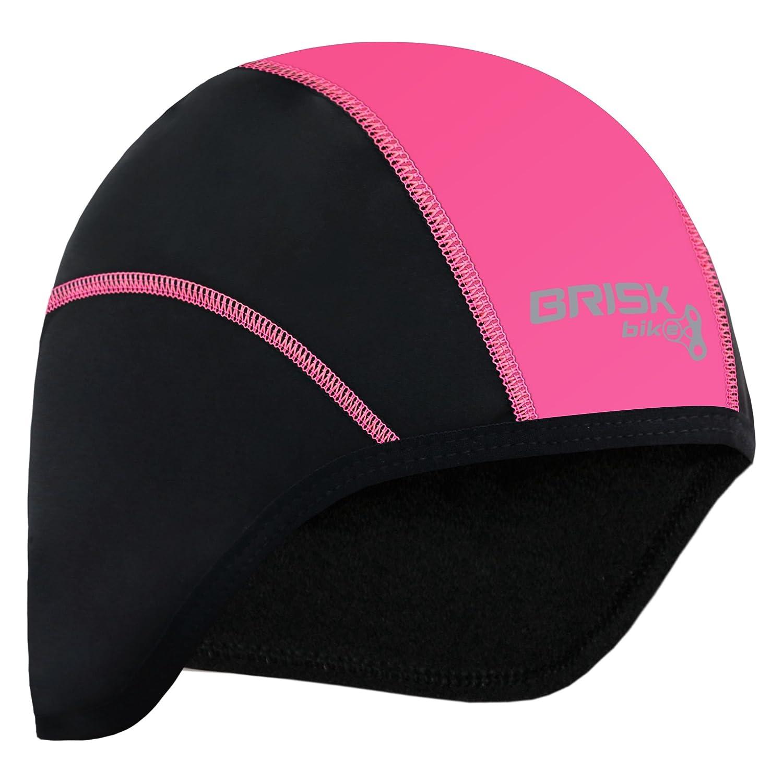 57ea26ebd03ad Brisk cycling skull cap under helmet thermal tight fit warm regular size  (Black): Amazon.co.uk: Sports & Outdoors