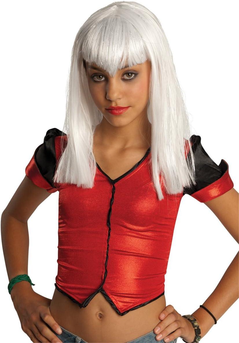 Rubies Costume Childs White Glitter Vamp Wig