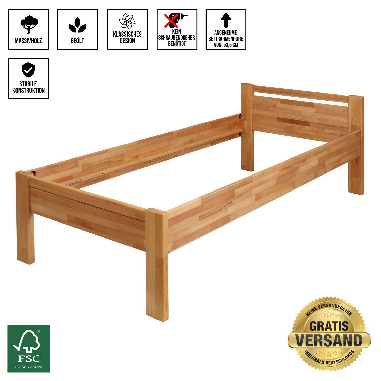 Massivholz Bett Vom Hersteller 200 X 200 Cm Krokwood Julia