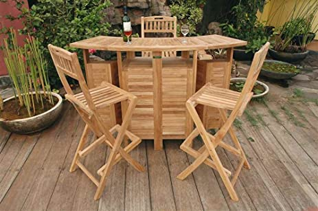 wood patio bar set