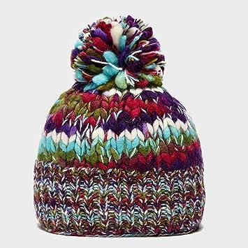 cea4b7e4b KUSAN Womenâ€TMs Rainbow Bobble Hat: Amazon.co.uk: Sports & Outdoors
