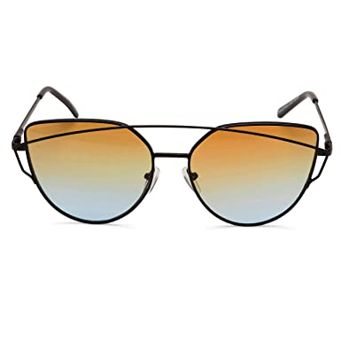 Amazon.com: Mujer Ojo de gato festival anteojos de sol ...