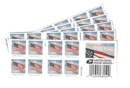 USPS US Flag Forever Stamps 100 5 Books Of 20
