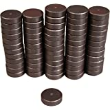 Creative Hobbies Ceramic Industrial Magnets -11/16 Inch (.709) Round Disc - Ferrite Magnets Bulk for Crafts, Science&hobbies - Grade 5 - 100 pcs / box!