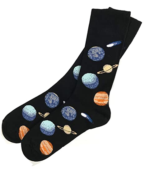 3 Pairs Mens//Boys Solar System Design Cotton Rich Socks Science Space Astronomy