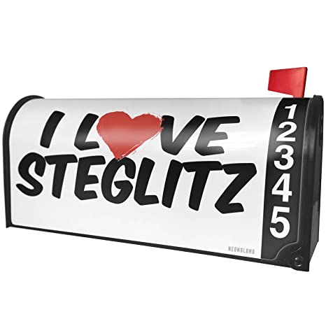 4111ab7634ef83 Amazon.com  NEONBLOND I Love Steglitz Magnetic Mailbox Cover Custom  Numbers  Garden   Outdoor
