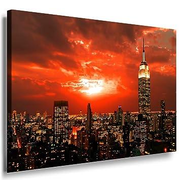 4L Bild auf Leinwand Bilder Kunstdruck Wandbild Poster New York