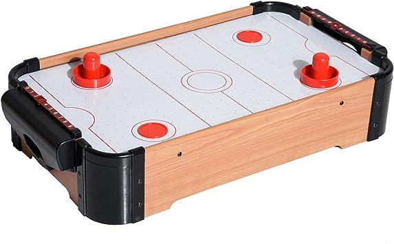 HOMCOM Air Hockey Juego de Mesa de Madera con Ventilador 2 Discos ...