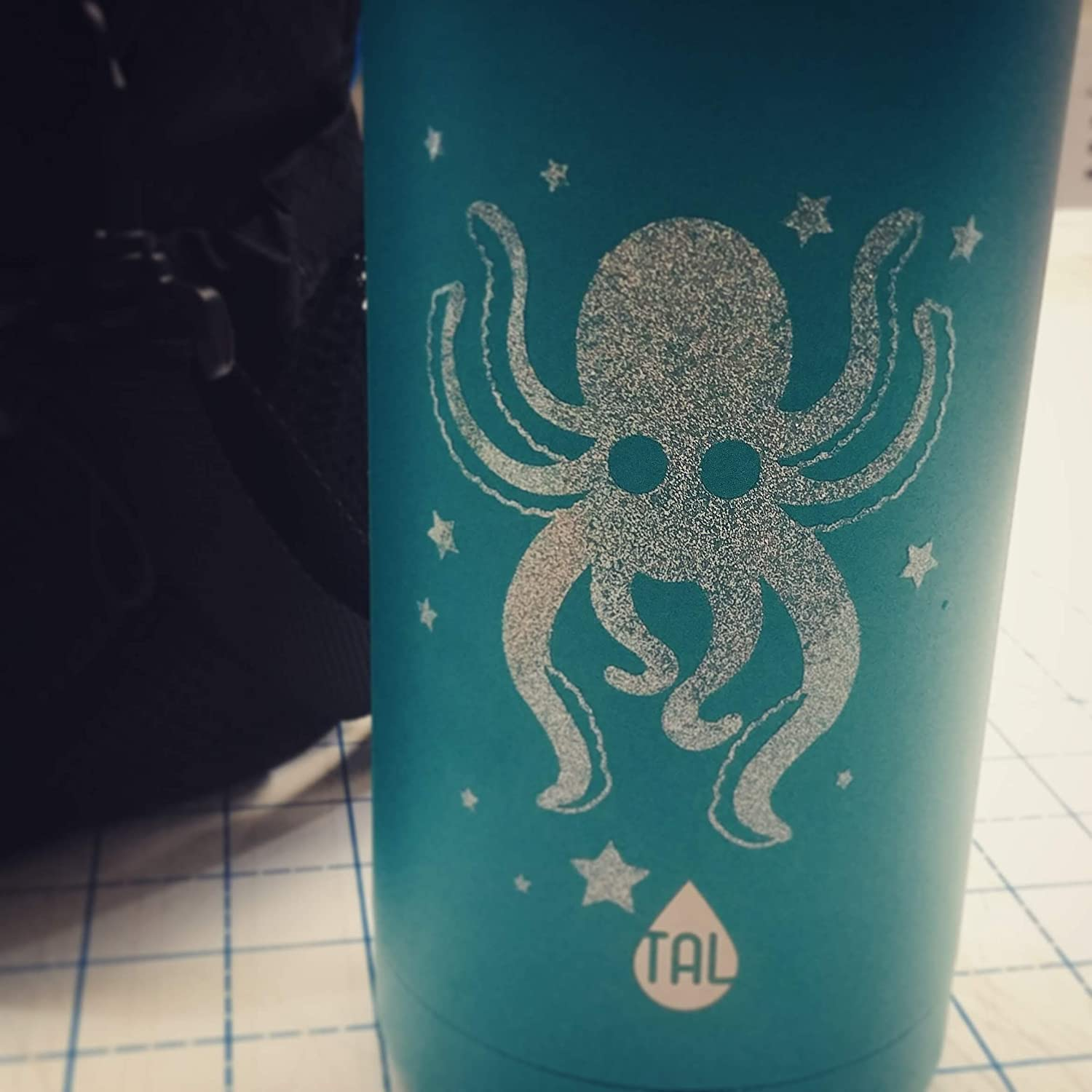 RAINBOW GLITTER Octopus Vinyl Sticker