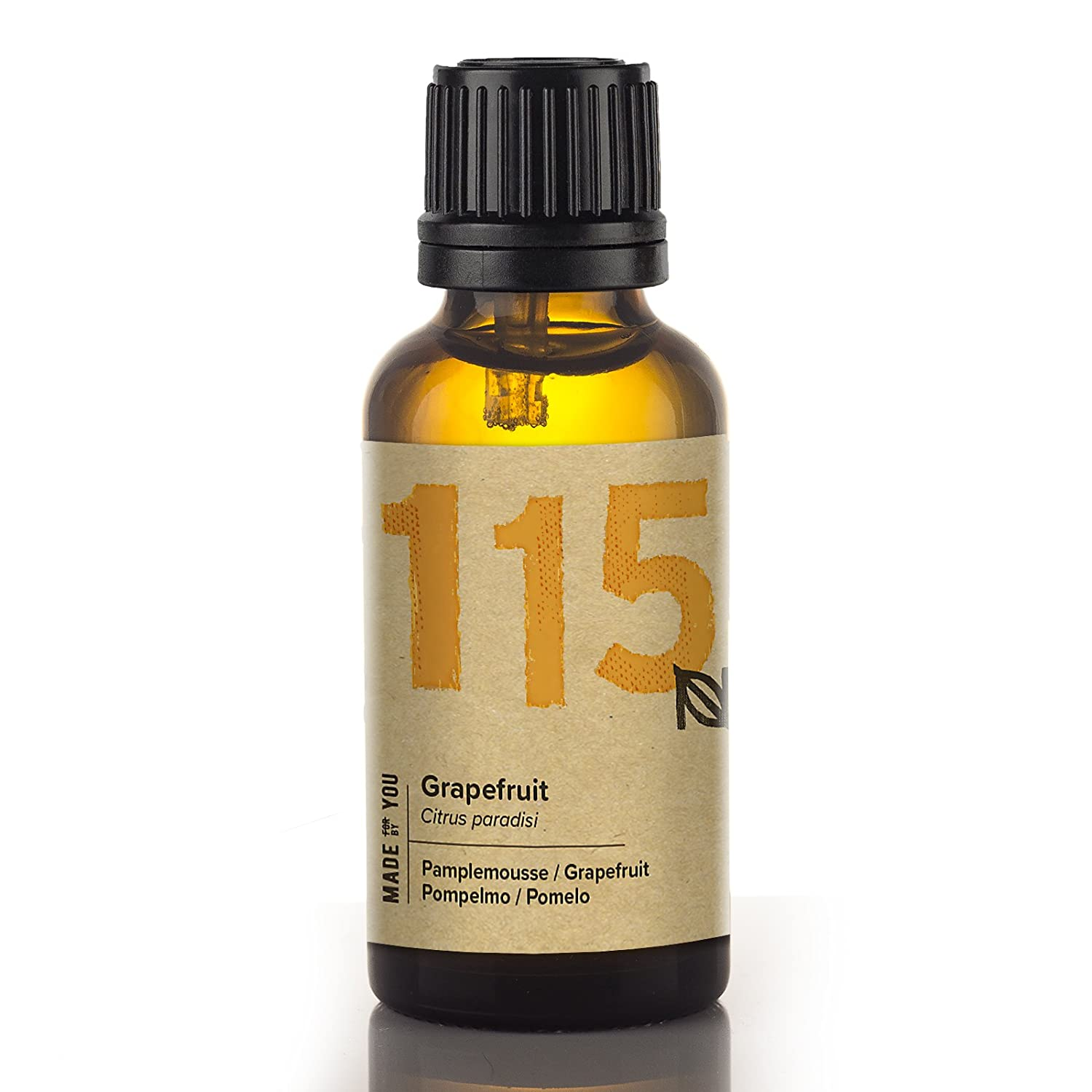 Naissance Grapefruit Essential Oil (no. 115) 30ml - Pure, Natural, Cruelty Free, Vegan, and Undiluted - To use in Aromatherapy & Diffusers