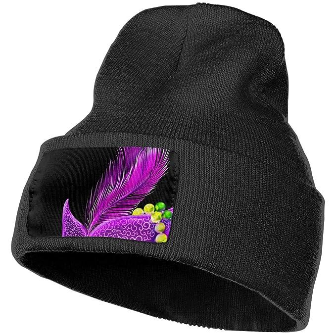 faf4460b34f Mardi Gras Carnival Masks Winter Beanie Hat Soft   Warm Chunky Skull Wool  Knit Hats Cap
