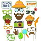 seasons stars Dinosaur Photo Booth Props - Dino Colorful Photo Booth Props - Dinosaur Party Supplies-Jurassic Dinosaur…