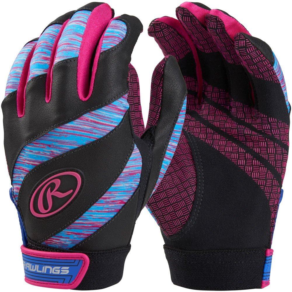 Rawlings Eclipse Fastpitchソフトボールバッティング手袋 B07531WZQ8 Small|Blue|Pink Blue|Pink Small