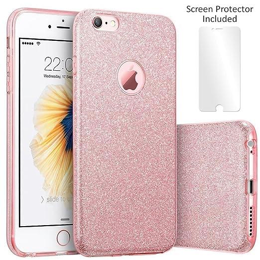 17 opinioni per TecHERE StarCase- Custodia morbida con brillantini glitter per Apple iPhone 6 /