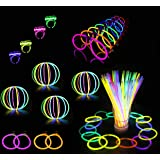 Glowz Premium Glow Stick 102 Piece Party Pack - Neon UV Accessories For Girls or Boys