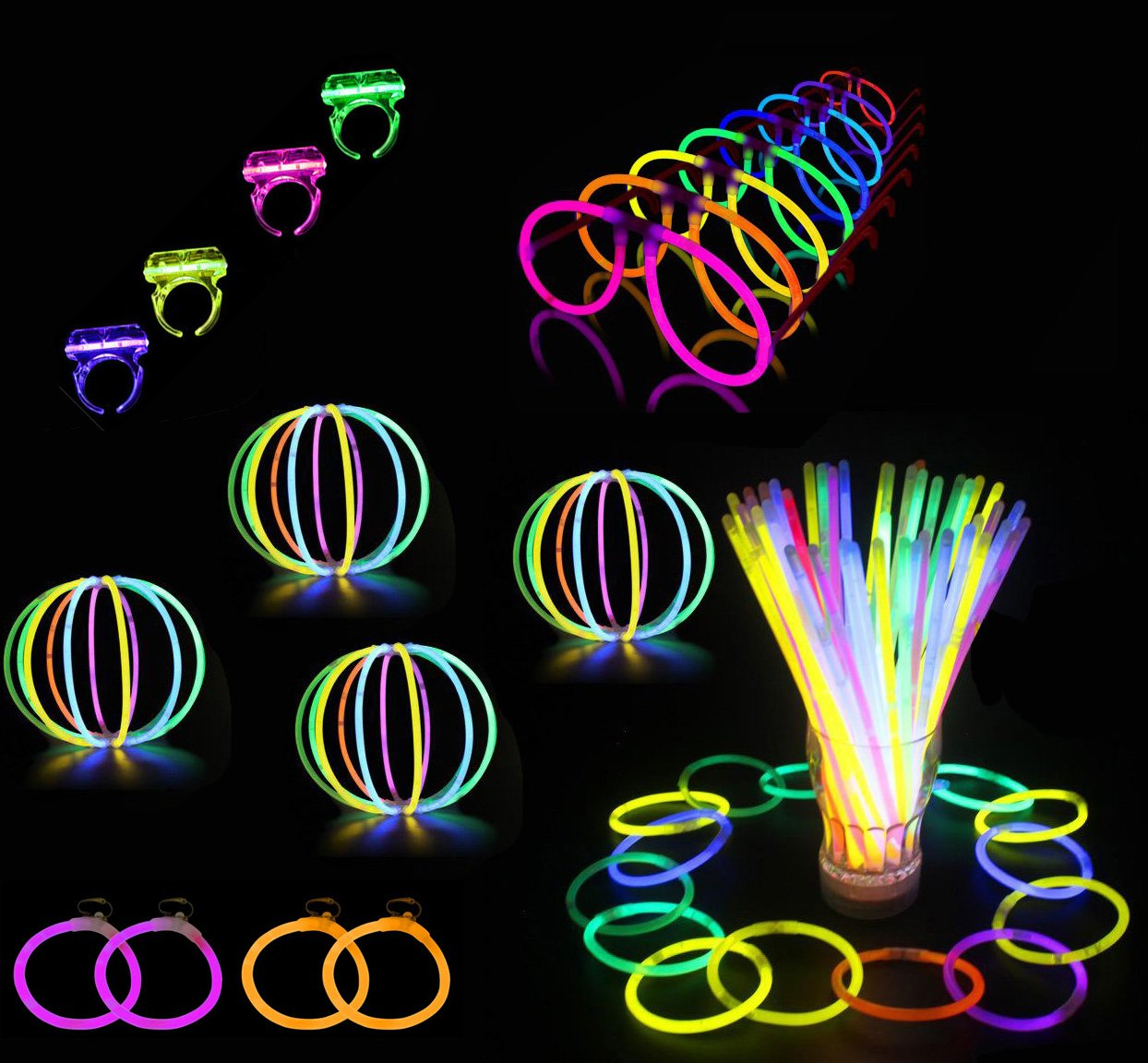 Glowz Premium Glow Stick 102 pièces Party Pack