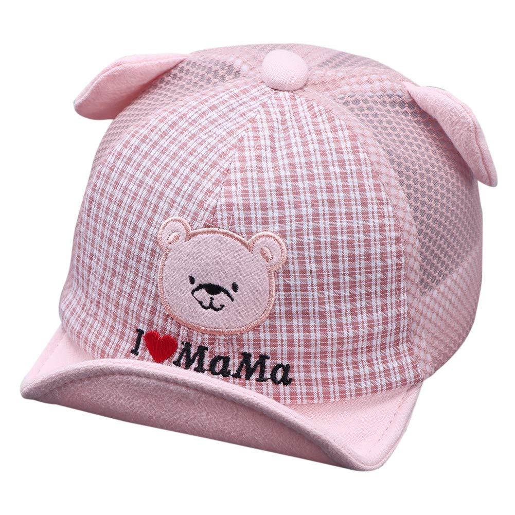Baby Caps Boys Girls Bucket Hat Reversible Sun Foldable Newborn Breathable Sun-Hat Beach Cap, Unisex Cute Baseball with Ear 0-3 3-6 6-9months