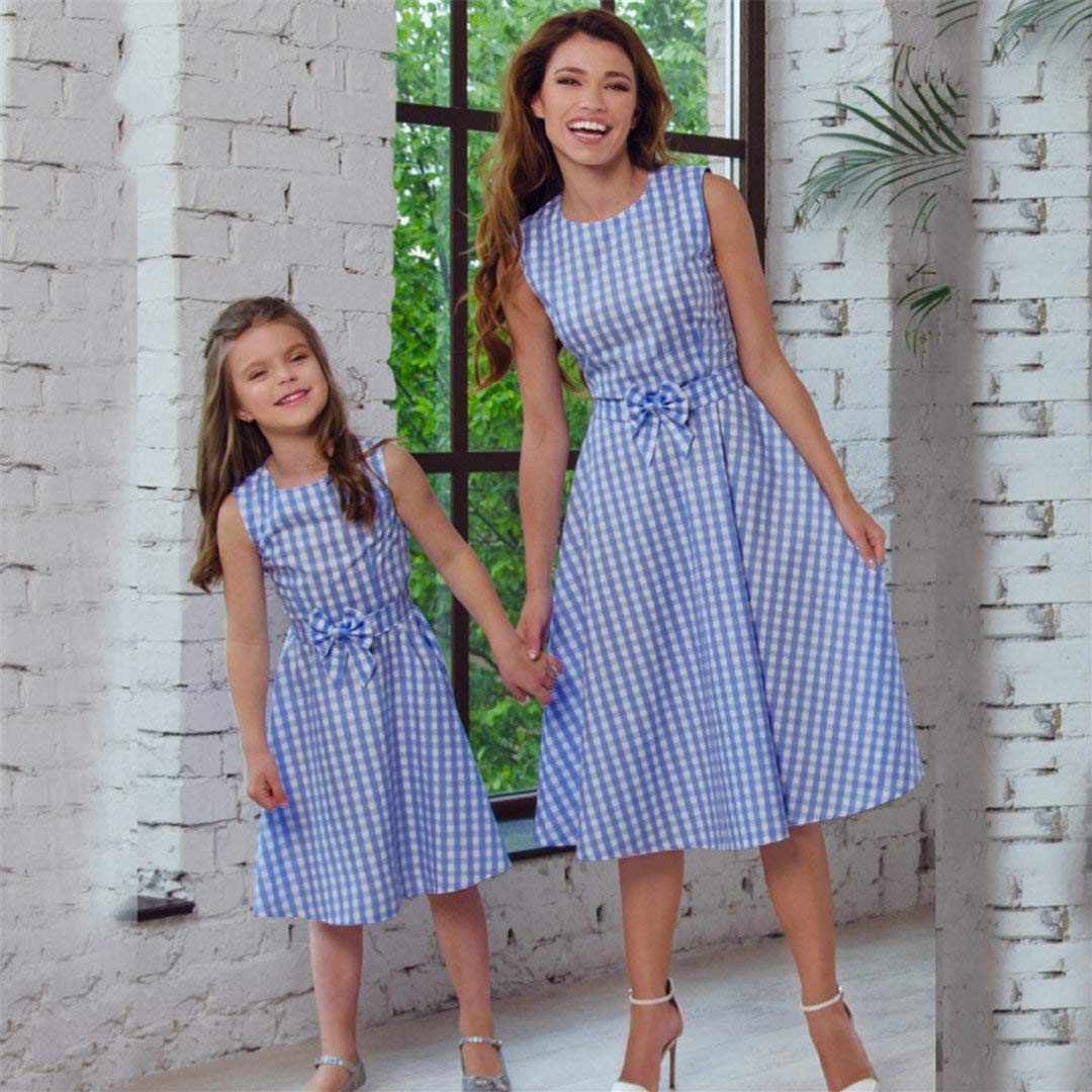 Amazon.com: Dress for Mother and Daughter Tiles Dresses Short Vintage Holiday Family Clothing Costumes Photography Toponly: Appliances