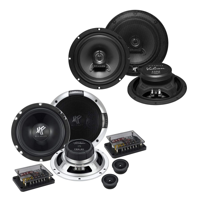 HIFONICS Front//Heck 16,5cm//165mm Auto Lautsprecher//Boxen//Speaker Komplett-Set kompatibel f/ür KIA