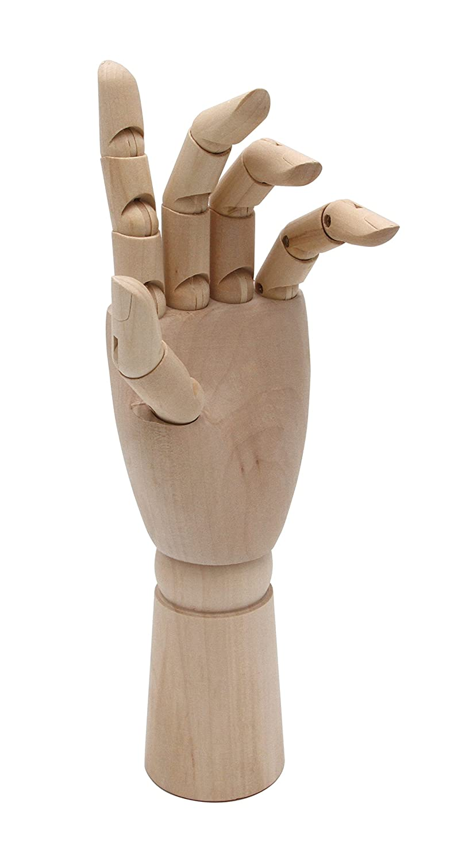 Meister Modellhand - Gliederhand 18 cm Hoch Paintersisters