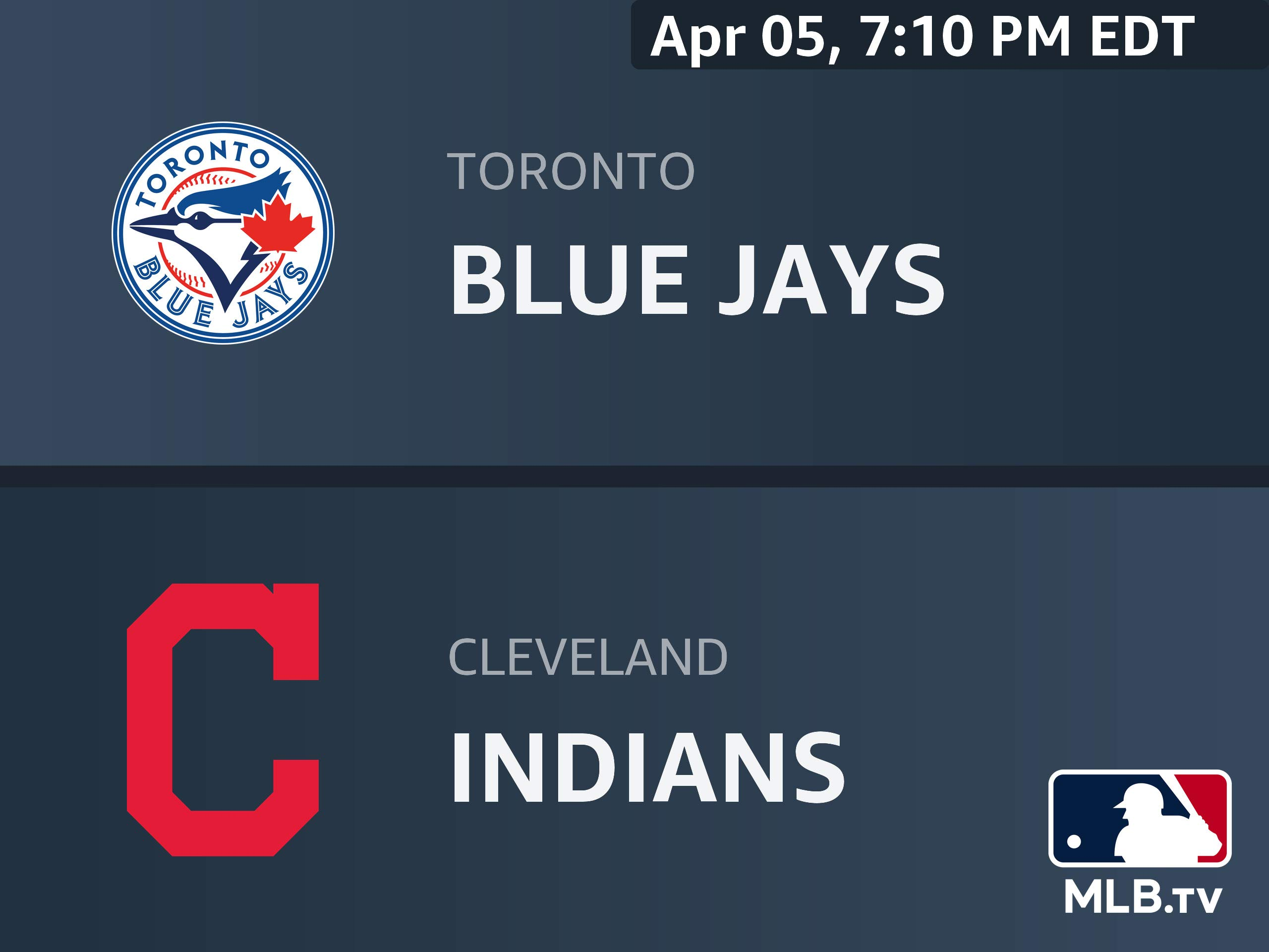 Watch Toronto Blue Jays At Cleveland Indians Prime Video